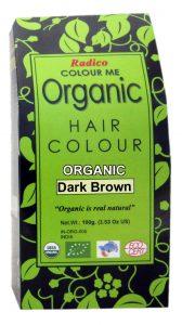 organic hair color dark brown